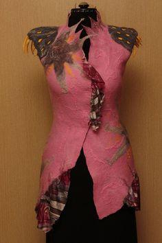 A Strange Dream / Felted Clothing / Vest by LybaV on Etsy