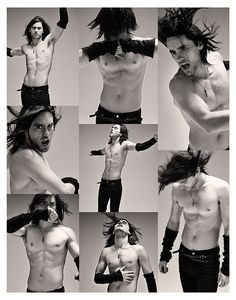 "Jared Leto from ""30 seconds to mars"". Singer and actor. Amazing voice and personality"