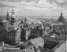 Dresden before and after bombing WWII