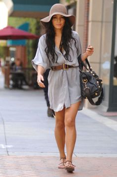 Vanessa Hudgens Woven & Floppy Hats and Fedoras