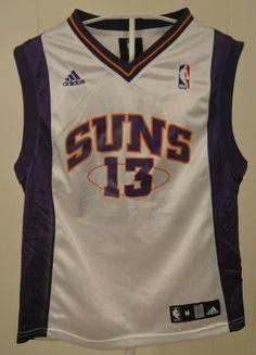 Adidas Phoenix Suns Jersey  13 Steve Nash NBA Kids Youth Medium 10-12 White 2e52e1af9