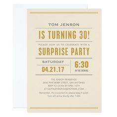 Surprise Birthday Party Invitation Wording Lovely Big Type Birthday Surprise Party Invitations X 7 Birthday Party Invitation Wording, 60th Birthday Party Invitations, 70th Birthday Parties, Invites, Birthday Ideas, Birthday Gifts, 50th Party, Birthday Stuff, Custom Invitations