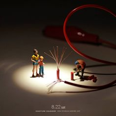 Incredible daily miniature artwork Credit: Tatsuya Tanaka Link back: miniature-calendar.com