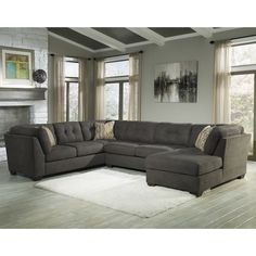 Large Picture of Benchcraft Delta City 19700 3 pc Sectionals