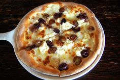 Gaeta Olive and Roasted Grape Pizza. Something tells me I need to start a separate board for pizza pins. Source: Kelly Bone for Serious Eats