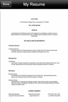 1000 images about Resume CV Apps on Pinterest