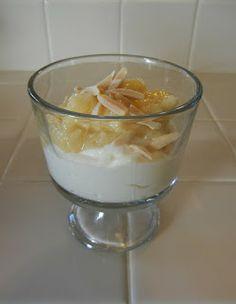 Bananas Foster Yogurt ~ Sugar Free Caramel Torani sweetened Greek Yogurt (plain)