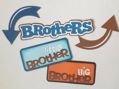 Premade Brother Title Set of 5 Paper Piecing by My Tear Bears Kira | eBay