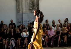 Slicked and voluminous ponytails for Bec & Bridge / Brooke Testoni reporting for @dysonhair #mbfwa