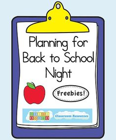 Planning for Back to School Night: Tons of great ideas and freebies from Heidi Songs!  I love all the parent handouts!