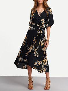 Shop V Neck Florals Wrap Dress online. SheIn offers V Neck Florals Wrap Dress & more to fit your fashionable needs.