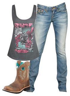 """""""School."""" by backwoods-princess ❤ liked on Polyvore featuring True Religion, Fox, Ariat and living room"""