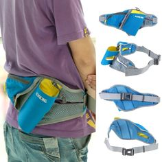 Multi-purpose Unisex Outdoor Sports Running Waist Bag Fanny Pack Pouch with Water Bottle Holder