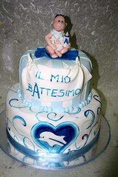 #battesimo bimbo e delfino   #torta della pasticceria La Mimosa di http://www.simocakedesigner.it