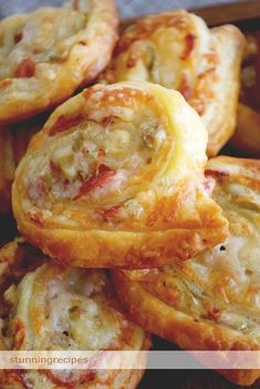 Cheesy puff pastry rolls....