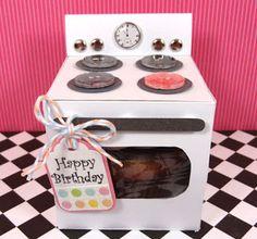 Popper & Mimi Paper Crafts: Oven Cupcake Box Tutorial~free : )
