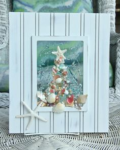 Beach Glass Art for Holiday Decor Sea Glass Art for Holiday
