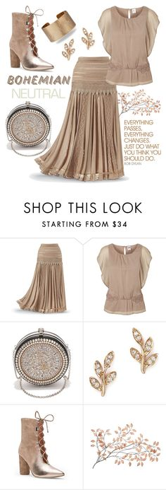 """Bohemian *Can* Be Neutral."" by tjclay3 ❤ liked on Polyvore featuring Vero Moda, Alexander McQueen, Bloomingdale's, Hard Graft, Sigerson Morrison, Panacea, neutrals, Bohemian and polyvoreeditorial"