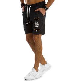 Krátke, pánske antracitové teplákové nohavice