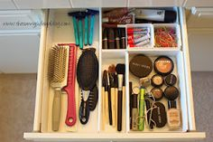 Use drawer organizers to separate your cosmetics!