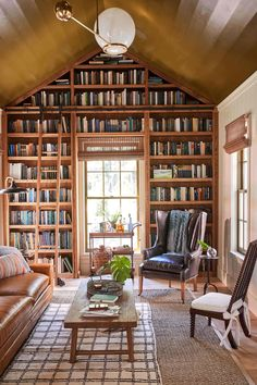 Home Library Rooms, Home Library Design, Dream Library, Home Libraries, Dream Home Design, Home Office Design, My Dream Home, House Interior Design, Cozy Home Library