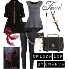 Dragon Age - Fenris by dwarva on Polyvore featuring Miss Selfridge, Ted Baker, Elizabeth and James, Proenza Schouler, Atelier Minyon, sass & bide, Hermès and Ellis Faas