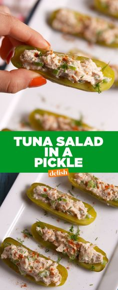 Tuna Salad Pickle Boats Are Our New Fave Healthy Snack
