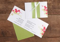 Orchid Wedding Invitation Card and Envelope
