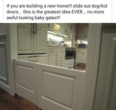 Built in baby or dog gate - genius!