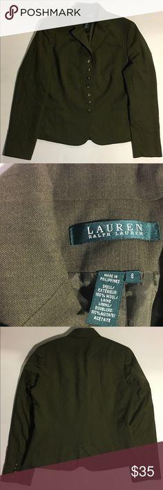 Ralph Lauren woman  Jacket/blazer SZ S Ralph Lauren olive green woman jacket/blazer.7 bottons SZ 8, 100% Wool,Excellent Condition Ralph Lauren Jackets & Coats Blazers