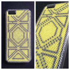 Hard case plastic cover decorated with mini Hama by BlackChameleon, kr170.00