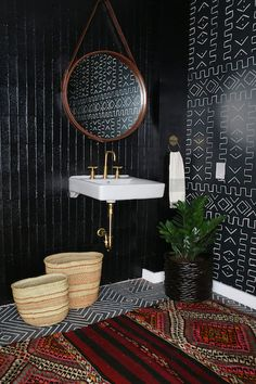 Moody Hues - 20 Times Color Was Done Right In Bathrooms  - Photos