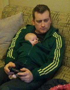 Gamer style parenting. Reminds me of Kevin lol