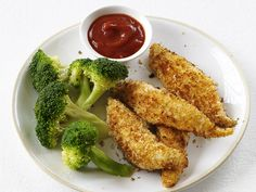 Chicken Fingers With Curried Ketchup Recipe : Food Network Kitchens : Food Network - FoodNetwork.com