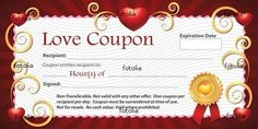 Sample Love Coupon Romantic Pictures