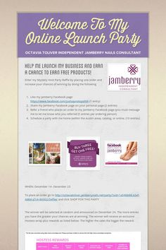 Welcome To My Online Launch Party. Marthacastillo.jamberrynails.net