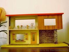Rare Vintage Moritz Gottschalk Mid-century Modern Dollhouse Bungalow Villa House