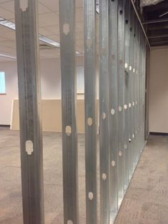 The wall gets started for the GIMM lab and our Maker Space on the 1st floor