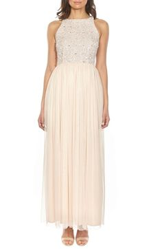 c9131233f47 Lace   Beads Picasso Embellished Bodice Evening Dress