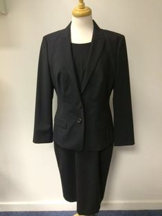 Ladies Hugo Boss two piece wool suit - dress UK 14 and blazer UK 12