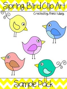 Spring Bird Clip Art Freebie (Graphics for Commercial Use)-- Follow me on TPT for updates on sales, giveaways, & freebies!