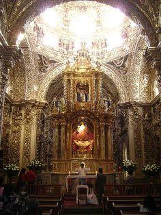 Puebla, México. Capilla del Rosario.