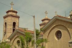 Detail from the Byzantine church of Agioi Anargyroi. (Walking Athens, Route 03 - Psiri / Monastiraki)