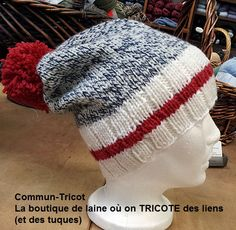 tuque faite avec la Big Fabel de Garnstudio et la Cascade 220 Superwash. tuque made with Big Fabel from Garnstudio and Cascade 220 Superwash wool. Loom Knit Hat, Loom Knitting, Knitting Patterns, Knit Crochet, Crochet Patterns, Baby Hats Knitting, Knitted Hats, Knitting Projects, Crochet Projects