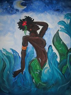 Mermaid art by Demel Baber