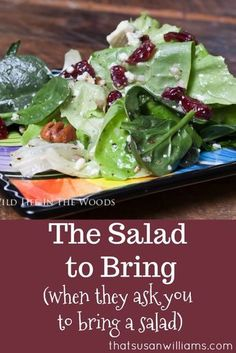 The Salad to Bring.when they ask you to bring a salad.The Salad to Bring.when they ask you to bring a salad.The Salad to Bring. Gourmet Recipes, New Recipes, Cooking Recipes, Healthy Recipes, Recipies, Potluck Recipes, Cooking Tips, Cooking Corn, Cooking Pumpkin