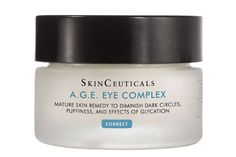"Skinceuticals A.G.E. Eye Complex. ""With its potent blend of ingredients, including peptides and anti-glycation molecules, this eye cream softens fine lines and stimulates circulation,"" The effect? Tighter skin and fewer dark circles  Skinceuticals A.G.E. Eye Complex, $86, available at Skinfo."