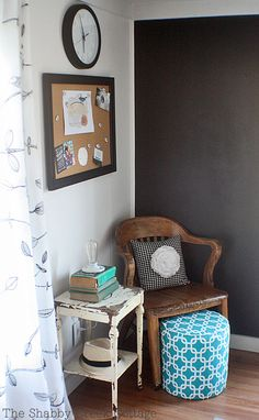 Black and White Home Office {the makeover reveal} - The Shabby Creek Cottage