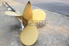 ship propeller: Old battleship propeller ,a retired military ship