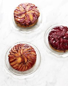 Nectarine, Plum, and Apricot Upside-Down Cakes